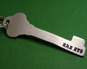 Supernatural Inspired - KAZ 2Y5 - A Hand Stamped Aluminum Keychain