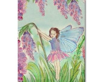 Flower Fairies Nursery Art Print 8x10, Girls room Decor, Kids Wall Art, Nursery Decor, Nursery Wall Art, Kids Decor, Baby Girl Nursery Art