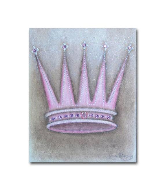Baby Crown Wall Decor : Items similar to princess crown wall art baby girl