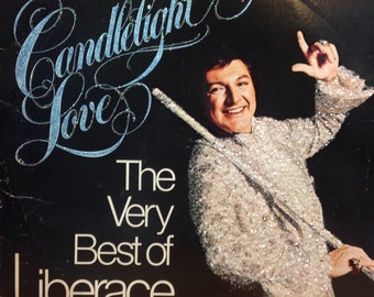 Glittered Vintage Liberace Candlelight Love The Very Best Of Liberace Vinyl Record Album