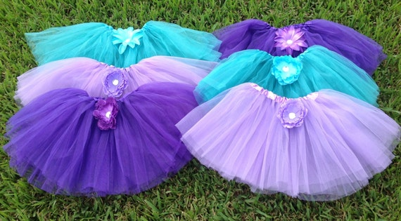 Little Mermaid Party, Ariel Birthday, Ariel Birthday Party, Tutus, Tutus, Purple Tutu, Tutu, Ariel Favors, Ariel Costume