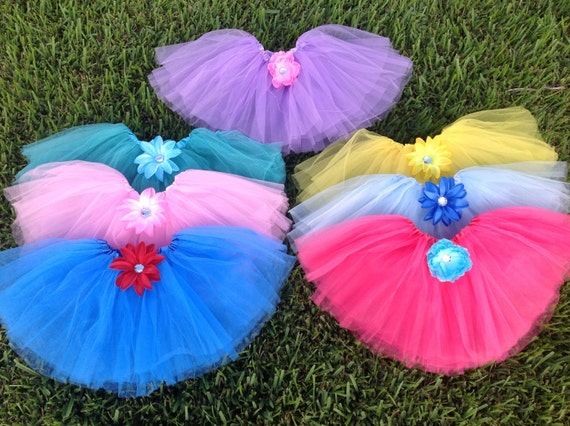 7 Disney Princess Tutus, Rapunzal Tutu, Princess Party Favors, Fairy tutus, Princess Fairy Tutus, Princess Birthday Party Favors