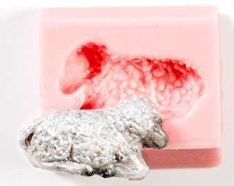 Lamb mold create your own embellishments from polymer clays, resin, paper casting, plaster with this silicone mold. (814)