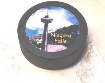 Vintage Niagara Falls Souvenir Hockey Puck