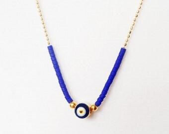 Evil eye necklace in blue fashion jewelry turkish accessories evil eye jewelry arabic necklace gifts for women best friend birthday