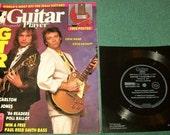 Vintage Guitar Magazine Steve Howe Steve Hackett with Free Flexidisc & Poster 1986 Yes Asia GTR