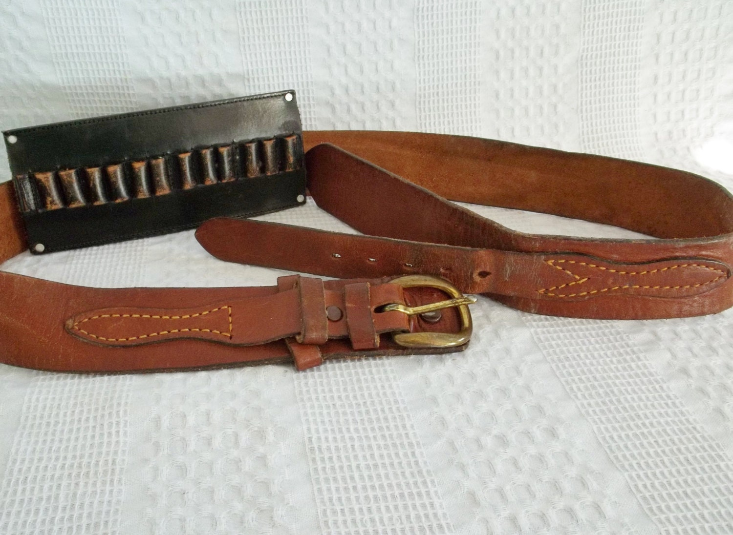 leather ammo belt brown black leather ammunition cartridge