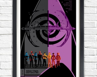 Star Trek Deep Space Nine Series - All DS9 crew  - 19x13 Poster