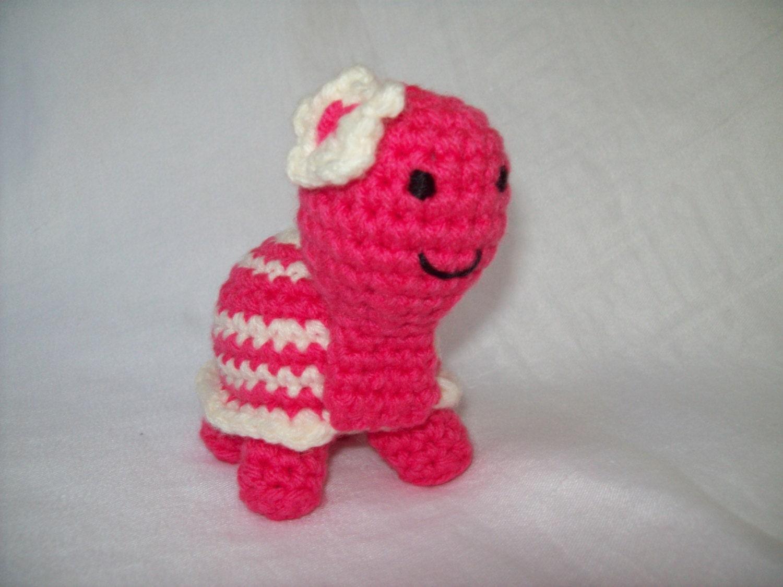 Crocheting Stuffed Animals : Tiny Turtle Crochet Stuffed Animal Stuffed by CrochetByJulia