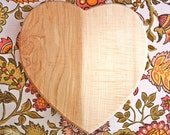 Heart Cutting Board . Love in the Kitchen . Cherry Wood