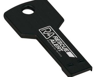 """Custom Personalized Engraved 4GB """"Key"""" USB Flash Drives"""