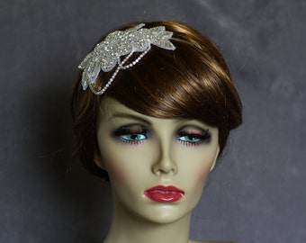 Rhinestone Headband-Bridal Headband-Beaded Rhinestone-Chain Headband-Wedding Hair-Bridal Headpiece-Bridal Hair Accessories-Ready To Ship