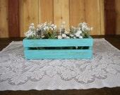 Wedding Center Piece, Decoritive Centerpiece, Wood Centerpiece, Wedding CrateCenter Piece,      Wood Crate, Rustic Center Piece