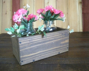 Decorative Wood Box, Center Piece,Country Center Piece,Kitchen Centerpiece, Wood Box, Party Table Center Piece, Decorative Wood Boxes,