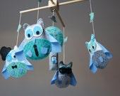 Baby Crib Mobile -  Musical Baby Mobile - Nursery mobile  - Funny Owl