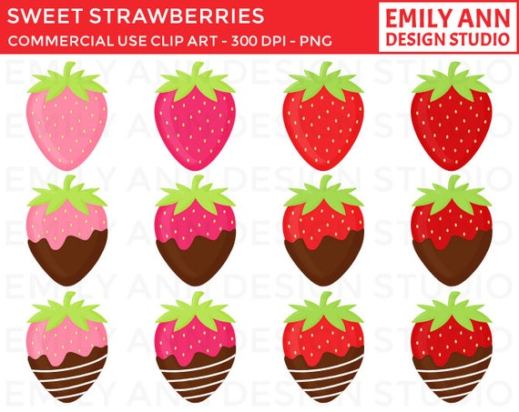 Cute Strawberry Clip Art Images & Pictures - Becuo