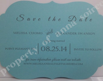 Flourish Shape Invitation:  All Occasion, Save the Date, Engagement, Anniversary, Wedding Invitation, Birthday Invitation, Shower Invitation