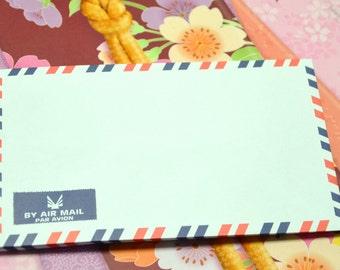 A set of 20 Vintage Style Air Mail /Par Avion Envelopes