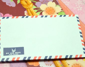 A set of 50 Vintage Style Air Mail /Par Avion Envelopes