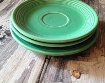 """Fiestaware 6"""" plates in green"""