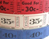 50 Vintage Carnival Tickets - Pick Your Combo - Red, White, and Blue  Raffle Tickets - Small Paper Ephemera - Papercrafting Embellishments