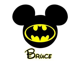 Mickey Head Batman TShirt Iron on Transfer Personalized (iron on transfer, not digital download) Super Hero t-shirt Disney Iron On