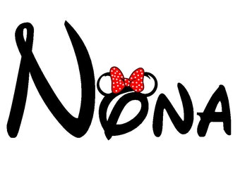 Disney Minnie-ized NonaCustom Iron on Transfer Decal(iron on transfer, not digital download)