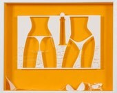 SUMMER KNAVE  -   Paper cut and paper sculpture - photographic reproduction art card