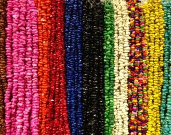 10-12mm irregular sized chip howlite beads