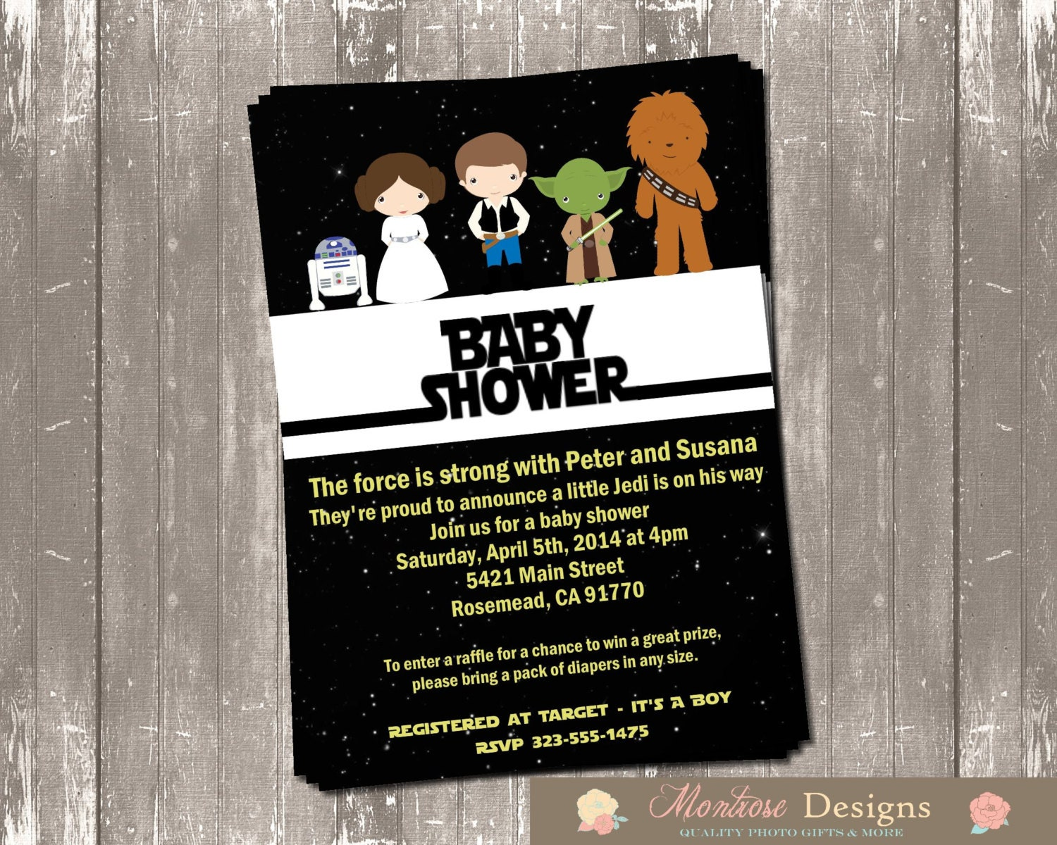 Star Wars Baby Shower Invitation DIGITAL FILE