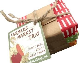 Farmers Market Trio Vegan Gourmet Soap