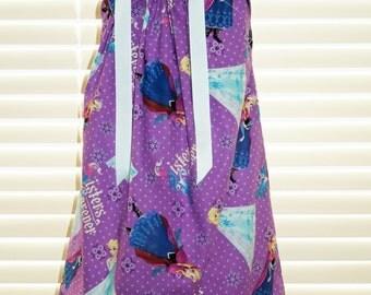 A Boutique Pillowcase Dress featuring Frozen Sizes 3months thru 6/7 available