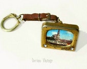 Fatima 'TV' Keychain / Keyring Containing 9 Miniature Postcards, 1960s