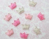 Small Princess Crown Kawaii Cabochon - 11 Pieces