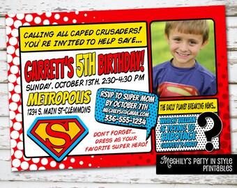 Superman Invite with Photo