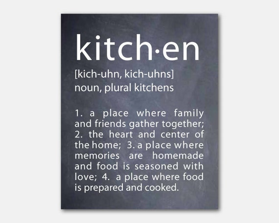 Wall Decoration Definition : Typography kitchen definition word art by susannewberrydesigns