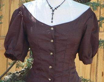 Victorian Steampunk Ballgown Bodice Taffeta Costume Top