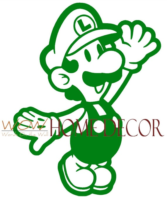 Vinyl Wall Art Decal Super Mario Luigi Super Mario Decals