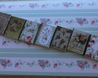 Dollhouse miniature set of  7 flower' s books