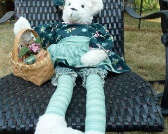 Handmade Teddy Bear with Long Legs