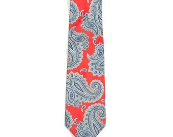 Vintage Red Paisley Necktie