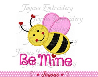 Instant Download Valentine's day  Bee Mine Applique Machine Embroidery Design NO:1456