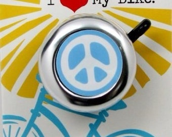Blue Peace Sign Bike Bell