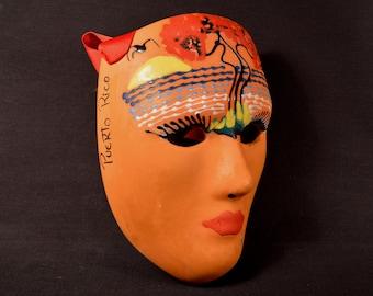 Mardi Gras Mask Ceramic Puerto Rican Souvenir Puerto Rico