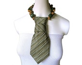 EARTHLY RICHES Earth tone palette stone beaded choker female necktie