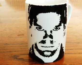 Michael C Hall, Dexter- Dexter - Six foot under - Hand Crafted Cup