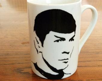 Spock - Star Trek - Hand Printed Cup