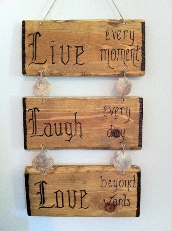 live laugh love rustic lodge decor by lodgedecornmore on etsy. Black Bedroom Furniture Sets. Home Design Ideas