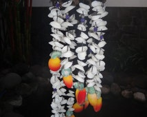 Coco Seashell Windchime White Orange