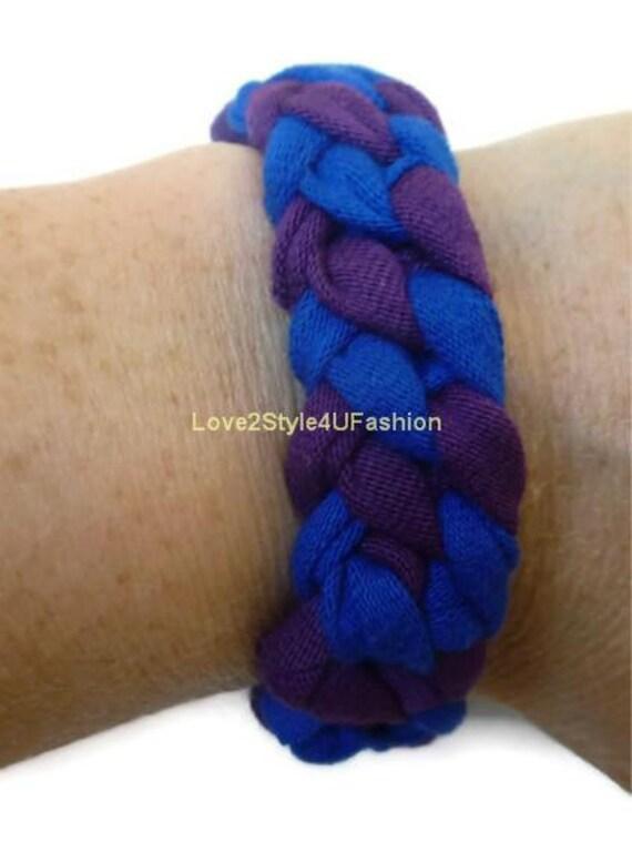 FREE SHIPPING Friendship Bracelet, Arm Candy, Boho Jewelry, Paracord Surf Hippie Bracelet, Stackable Bracelet Unisex-Blue/Purple